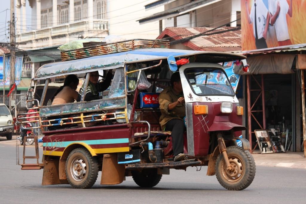 A tuk tuk in Vientiane, Laos