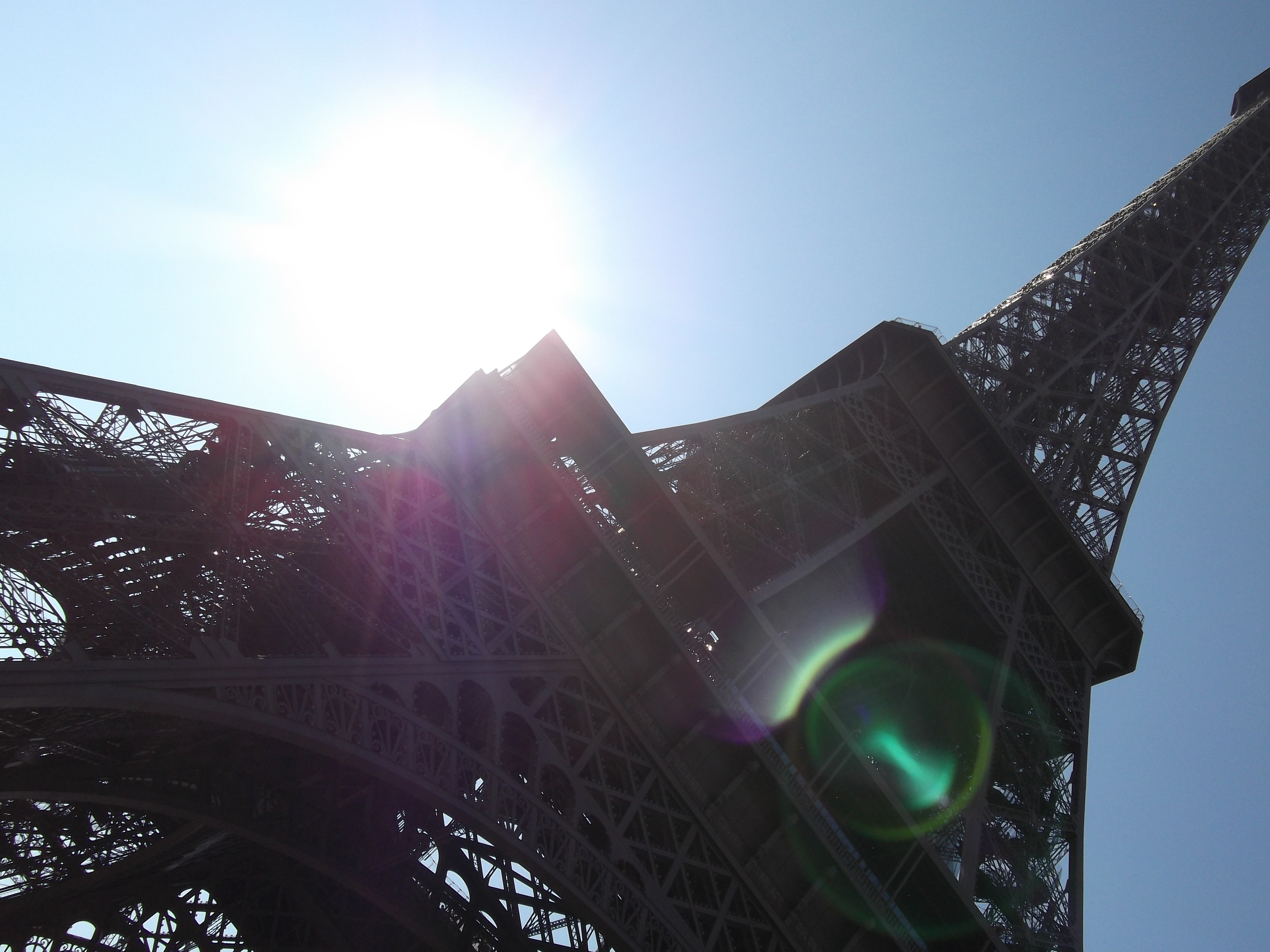 Trying to be arty with the Eiffel Tower