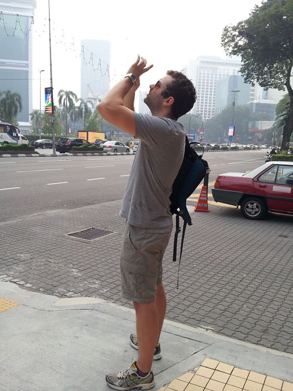 And, finally, photographing the Petronas Towers in Kuala Lumpur.